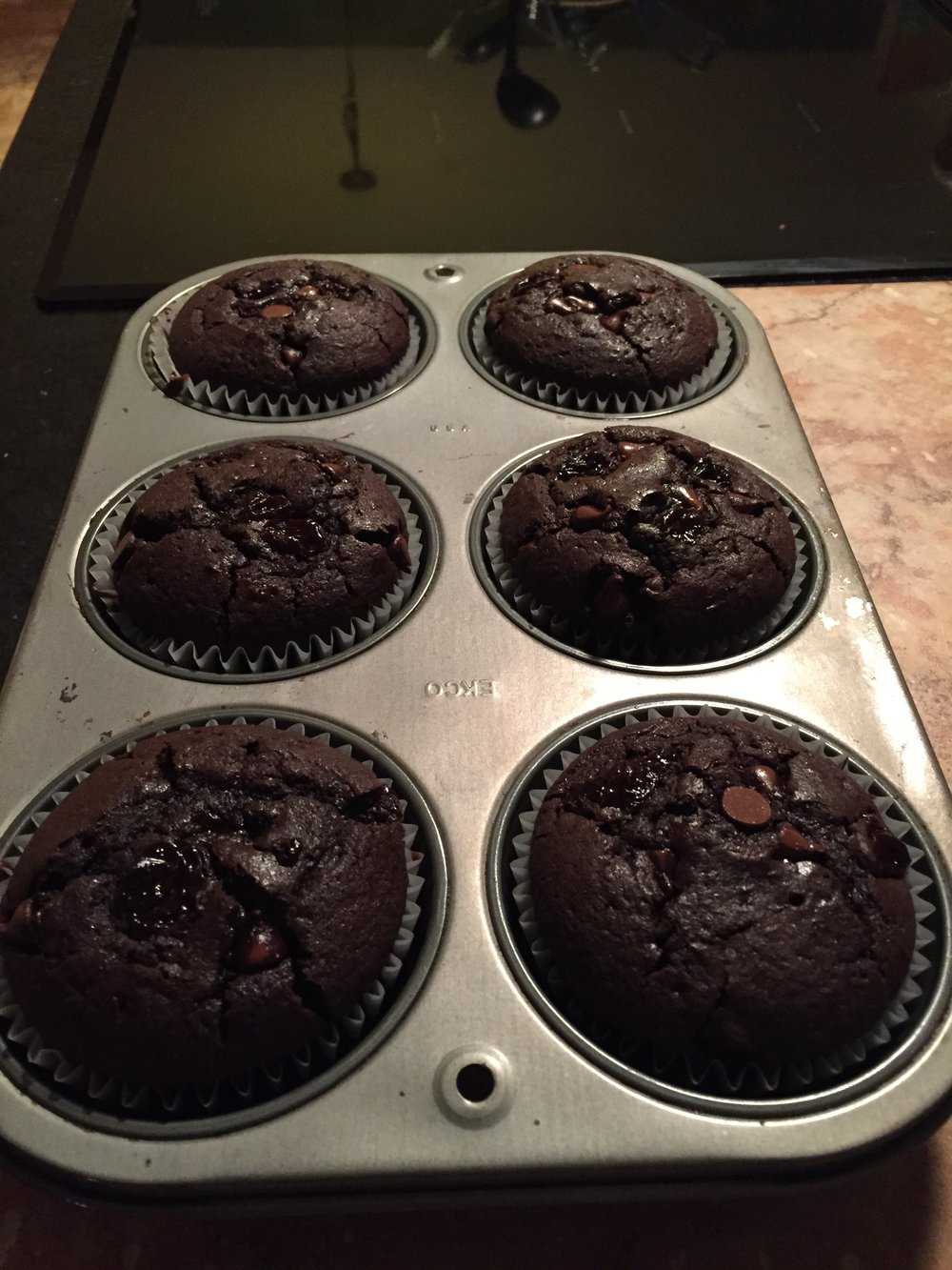 Gluten Free Double Chocolate Cherry Muffins