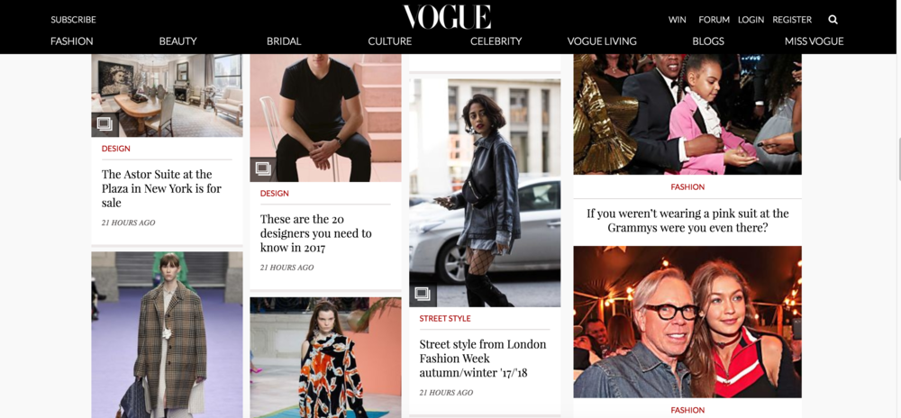 Vogue Australia, London Fashion Week '17