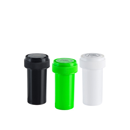 Certified Child Resistant Kush N Turn Reverse Caps Bottles   8 dram (410 qty - $0.10/unit)  13 dram (275 qty - $0.15/unit)  20 dram (240 qty - $0.17/unit)  30 dram (190 qty - $0.21/unit)  40 dram (150 qty - $0.27/unit)  60 dram (100 qty - $0.40/unit)  $39.99 - Reversible cap for patients with arthritis/joint pain, Made in the USA, BPA free, Food Grade.  (Colors : White, Black, Lime)