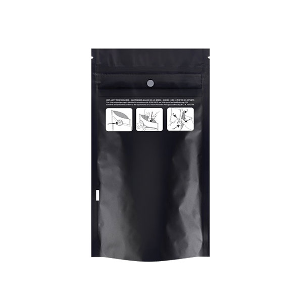 Certified Child Resistant DymaPak Bags   Eighth ounce (2000 qty) - $599.99 ($0.30/unit)  Quarter ounce (1000 qty) - $379.99 ($0.38/unit  Ounce (1000 qty) - $499.99 ($0.50/unit)  Tamper Evident Tear Notch, Locking Zipper, Food Grade  Colors: White, Black
