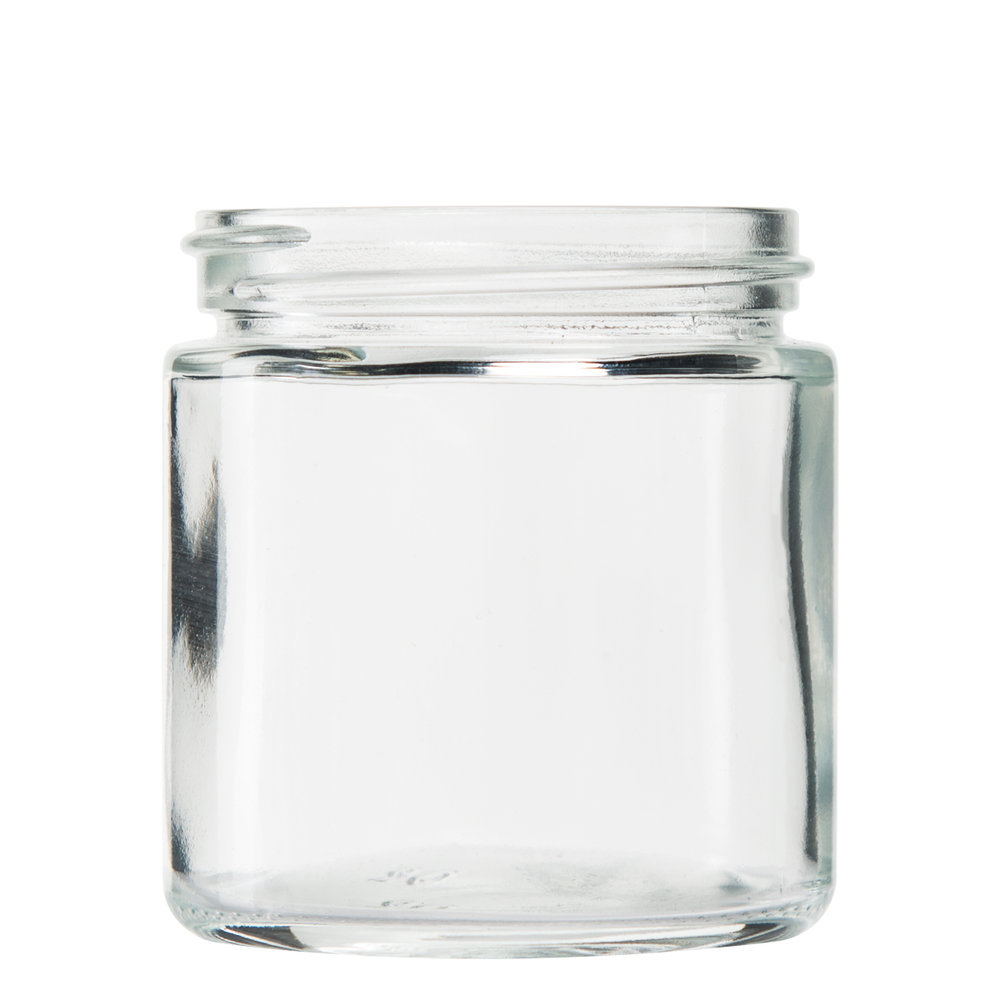 Standard Glass Jar with Non-CR Screw Top Lid   1oz (252 qty) - $90.99 ($0.36/unit)  2oz (160 qty) - $63.99 ($0.40/unit)  3oz (150 qty) - $61.99 ($0.41/unit)  5oz (100 qty) - $47.99 ($0.48/unit)  10oz (72 qty) - $103.99 ($1.44/unit)  18oz (48 qty) - $100.99 ($2.10/unit)
