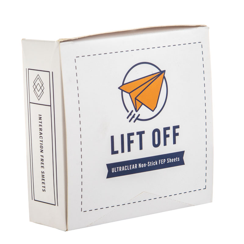 Lift Off Ultraclear Non-Stick 4x4 FEP Concentrate Sheets   (500 qty) - $124.99 ($0.25/unit)  FEP (fluorinated ethylene propylene), silicone free, translucent