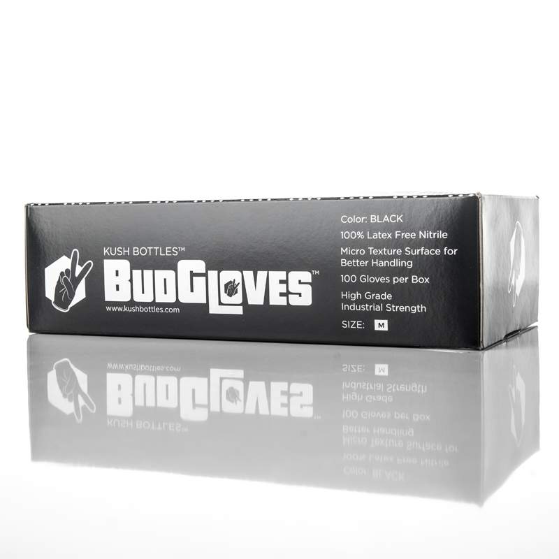 BudGloves Premium Nitrile Trimming Gloves   (100 qty) - $5.99  S, M, L, XL, Powderless, touch screen compatable, industrial grade, food safe