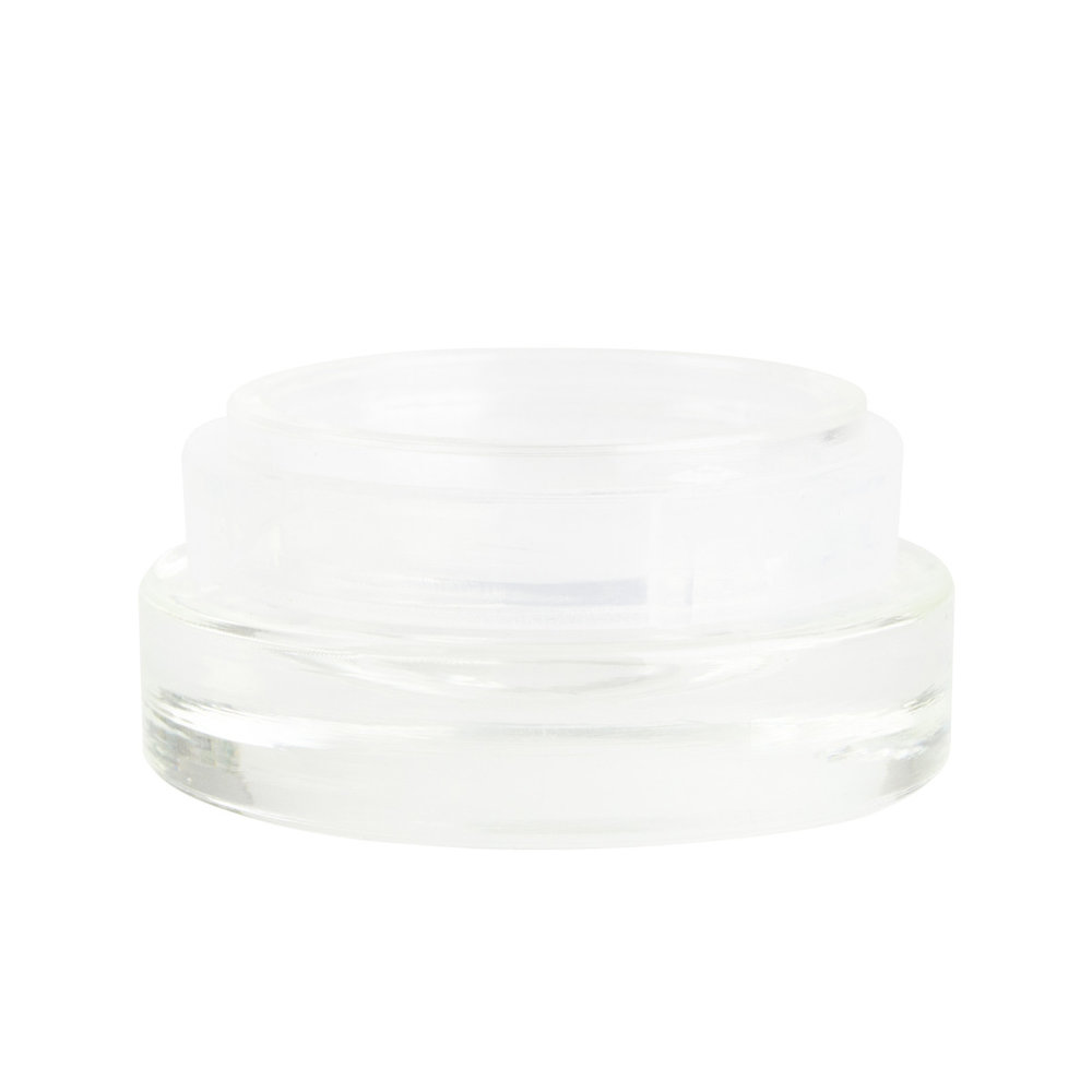 Child Resistant Palm N Turn Concentrate Container   41.40mm (diameter), beveled bottom, airtight, transparent  1.0g (400 qty) - $139.99 ($0.35/unit)  0.5g (400 qty) - $132.99 ($0.33/unit)