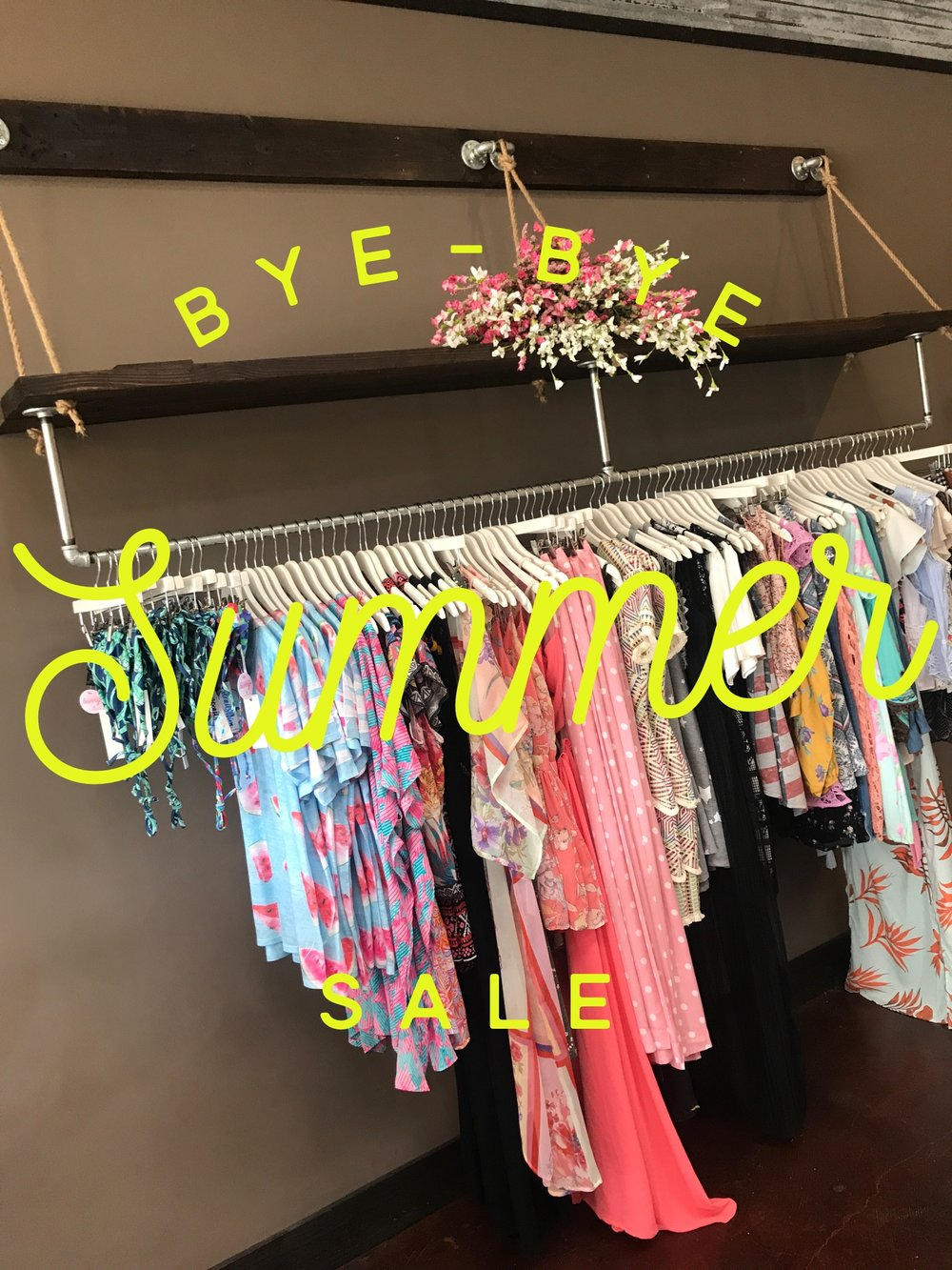 happening now.... 50% OFF Our Summer Racks. Check out the sale... and check out our totally amaze new arrivals!