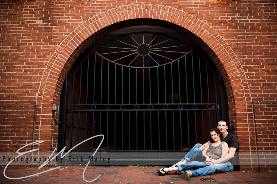 old city engagement pictures
