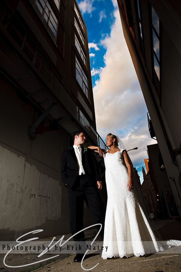 Philadelphia bride and groom portrait