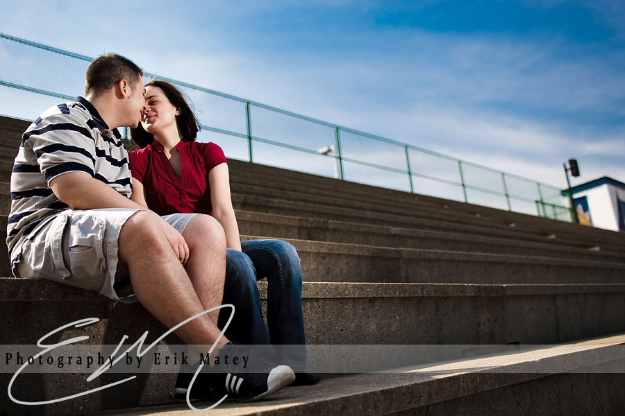 high school engagement session