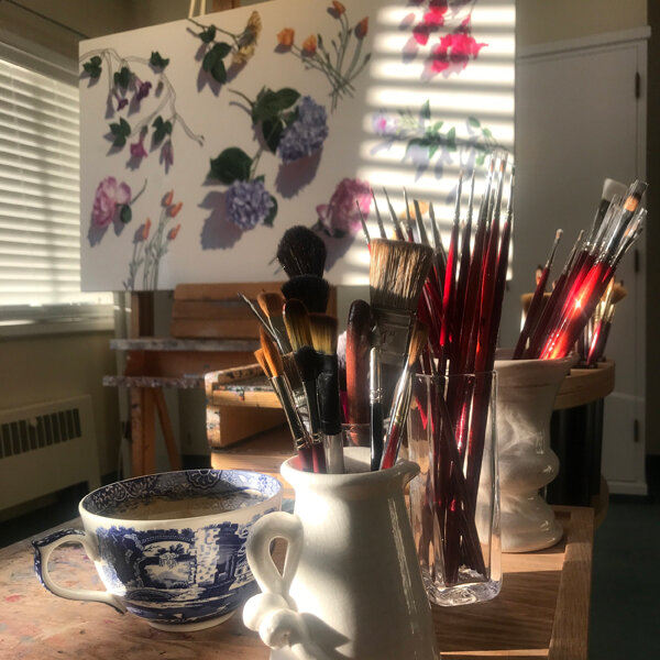 Afternoon light in the studio