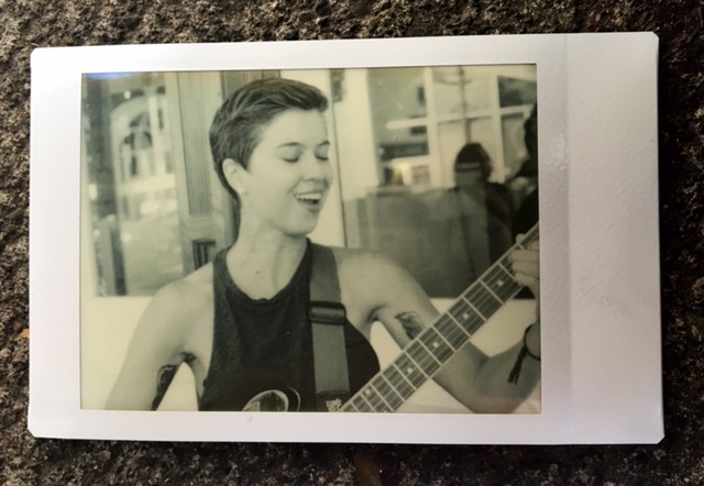 In Portland, a listener took a Polaroid photo of me performing and printed it out on the spot!
