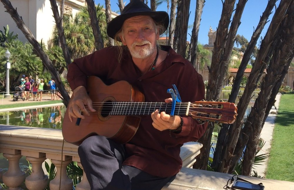 Busker in Balboa Park in San Diego. Photo by Meghan McDonald