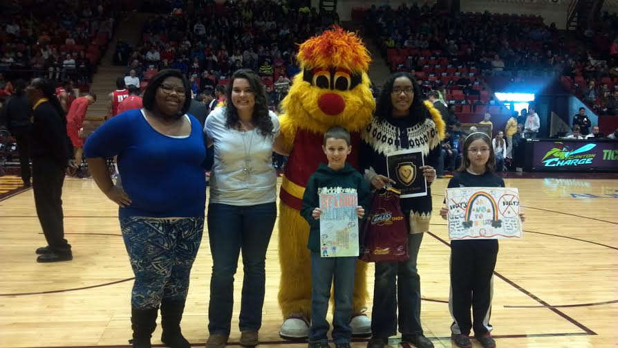 Winners were recognized at the Canton Charge School day Game on Feb. 6, 2014 in front of 3,000 students in attendance from local schools.