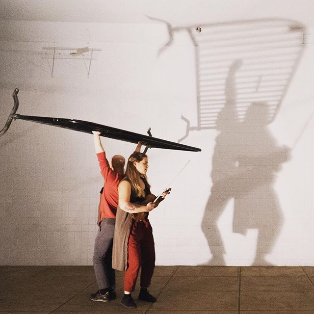 Spinning Shadows from OPEN BOX Project. 📸 by @zzhandler  #interdisciplinary #sitespecificdance #strings #perf671 #orangegrovedance