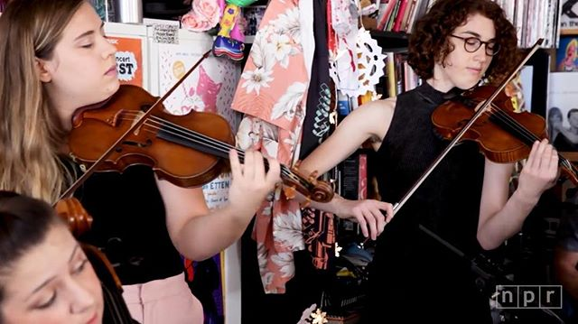 Throwback to the Japanese Breakfast Tiny Desk! Traveling to DC for a show and need stellar strings? The musicians of RC can play almost any style and are comfortable amplified and acoustic. We love to collaborate 🗣🗣🗣🗣🗣 #violin #cello #tinydesk #acreativedc #perf671 #collaborate #strings