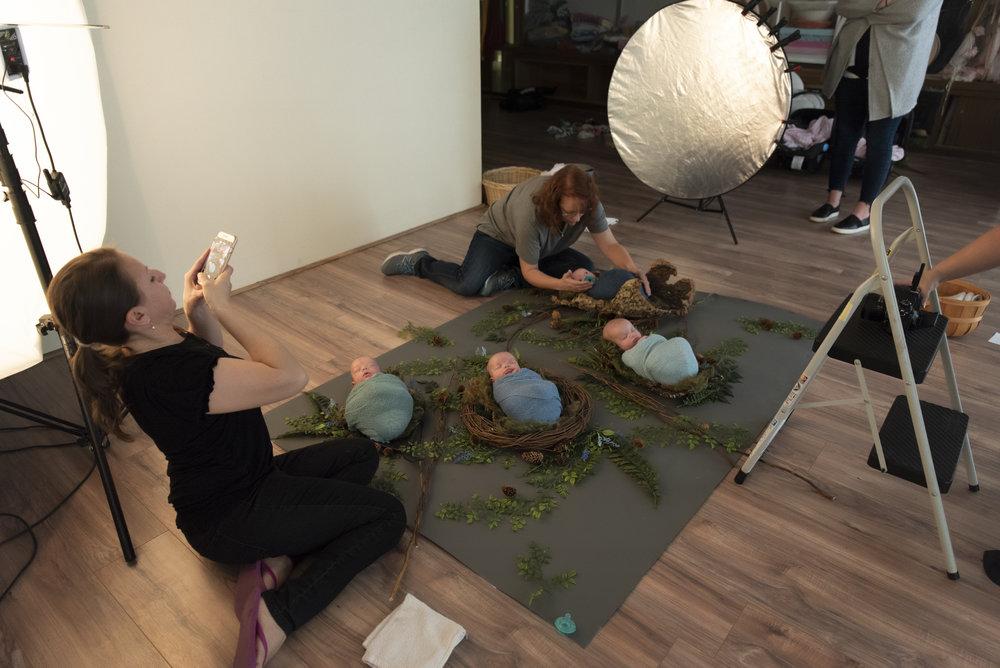 Quadruplet Newborn Portrait Session Brittany Gamblin Photography Denver