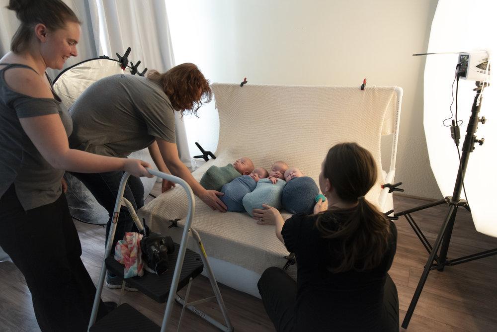 Denver Newborn Photographer Brittany Gamblin Quadruplet Neworn Photo Session #thefairfour