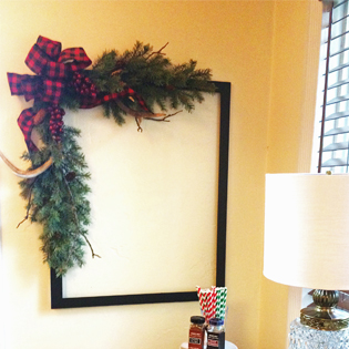 DIY Frame Wreath