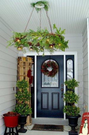 Grapevine Wreath Chandelier