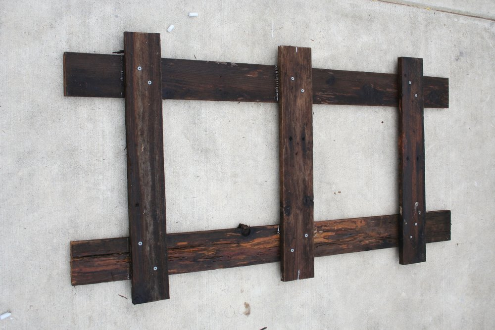 How to make an easy rustic hat rack step by step at urban cottage living