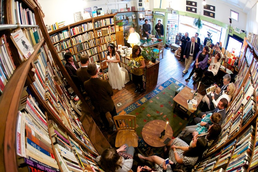 We can't promise anyone will be getting married at SRP, but ain't that a gorgeous bookshop?