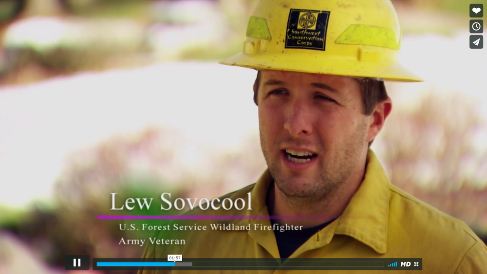 VETERANS GREEN JOBS   Military veterans are challenged in their transition to the civilian workforce upon exiting the service. What many of these men and women share is a desire to find meaning in their new career path – while continuing to serve their country. This video highlights the catharsis created for veterans through training and employment opportunities in the green economic sector, including energy efficiency, renewable energy, wildland firefighting and land conservation, and how these pathways have helped former service men and women find fulfillment in the civilian workforce.  Created in partnership with Appaloosa Productions.