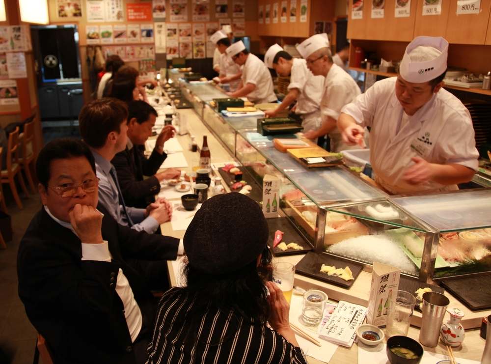 Lunch rush in Tokyo