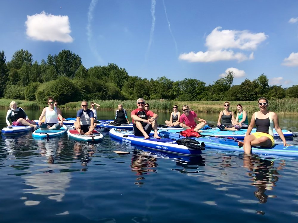 SUP Yoga at Bowmoor Sailing Club at RIAT 2018