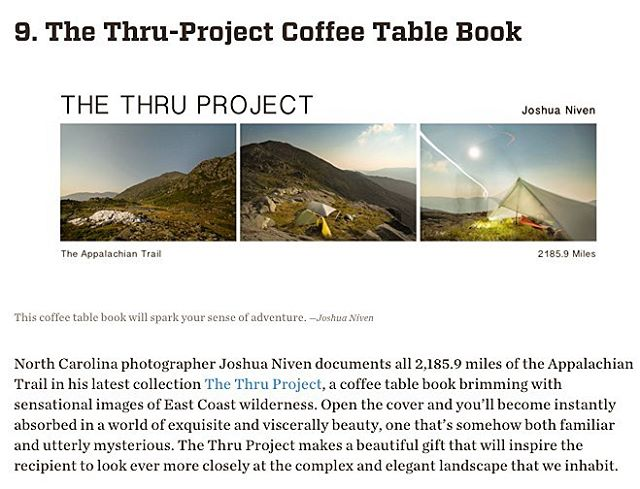 "Big shout out to @rootsrated for including The Thru Project Book on their 9 Gifts for the Outdoor Enthusiast Made Locally In Western North Carolina list! Thanks to @thewildercoast for the awesome write up! Head over to www.thru-at.com to take advantage of the book pre sale! Includes: - First Release Book (#'d & Signed) - 2 Limited Edition 8"" x 10"" Prints - 20% Off The Thru Project Store - Free (US) Shipping! ⚡️⚡️⚡️ #rootsrated #thethruproject #thethruprojectbook #appalachaintrail #joshuanivenstudios #thewandertrees"