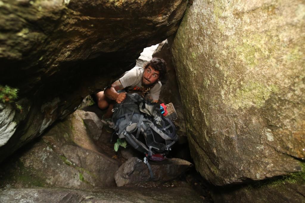 Mahoosuc cave pass.