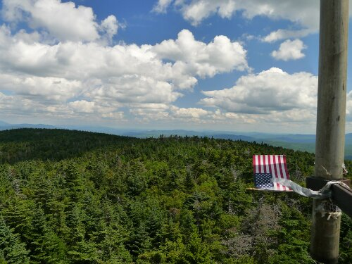 From a fire tower in New Hampshire looking south.
