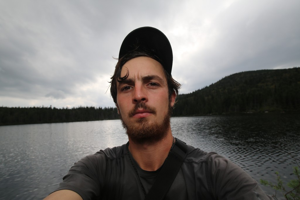 Selfie on the pond! Sweet curl bro!