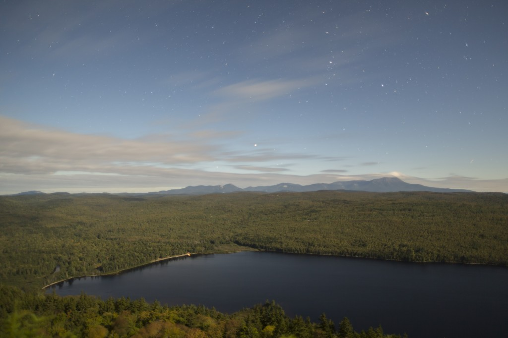 This image of Mount Katahdin  was also taken from Nesuntabunt Mountain in the evening time!