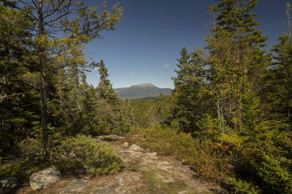 This image of Katahdin was taken from the Rainbow Ledges at mile marker 2164.8.. Getting Ccose!!!