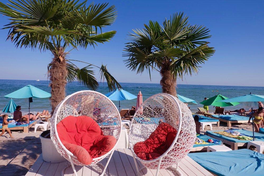 Cube Beach Club in Odessa, Ukraine