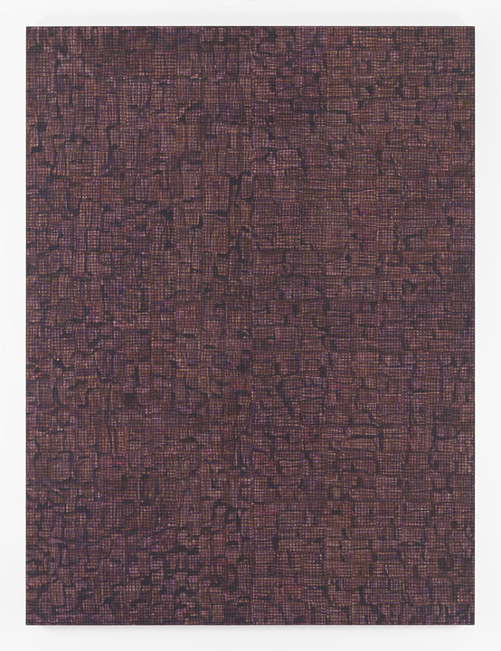 MCARTHUR BINION DNA: Sepia VI, 2016 Oil paint stick, sepia ink, and paper on board 96 x 72 inches