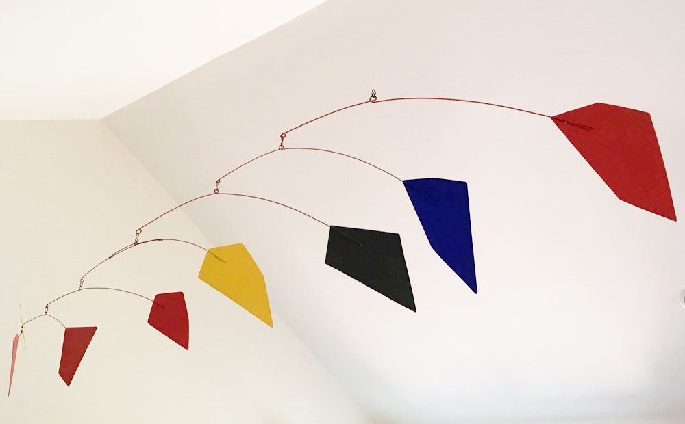 ALEXANDER CALDER Eight Polygons, 1973 Painted sheet metal and rod 56 x 103 inches