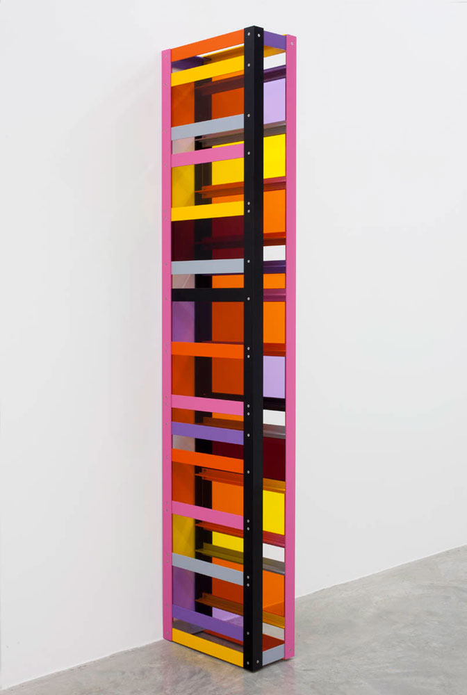 LIAM GILLICK Withheld Developed, 2011 Powder coated aluminum, Plexiglas 90.6 x 19.7 x 7.9 inches