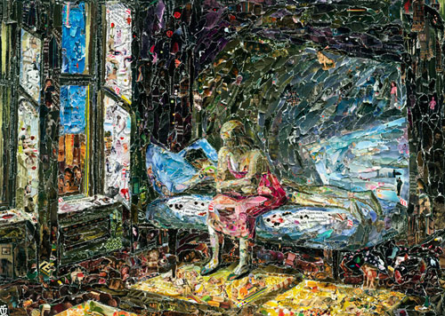 VIK MUNIZ Summer in the City, after Edward Hopper (Pictures of Magazines 2), 2011 Digital C-print 40 x 57 inches Edition: 6