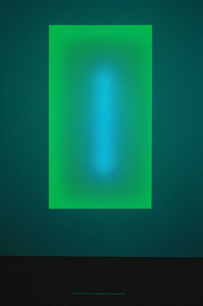 JAMES TURRELL Oraibi, from the Tall Glass series, 2007 Glass and LED panel 132 x 85 inches
