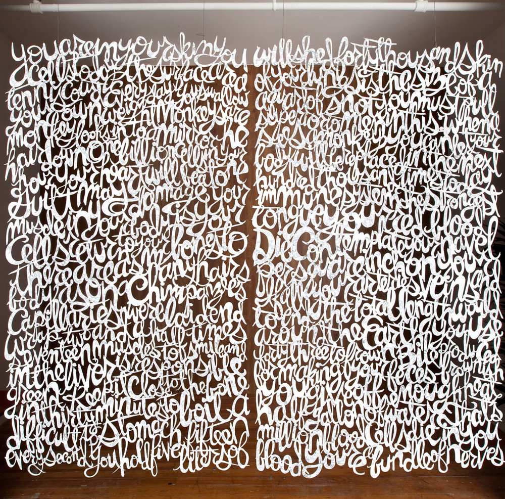 MARK FOX   Diptych , 2010 Cut polished stainless steel 92 x 96 inches