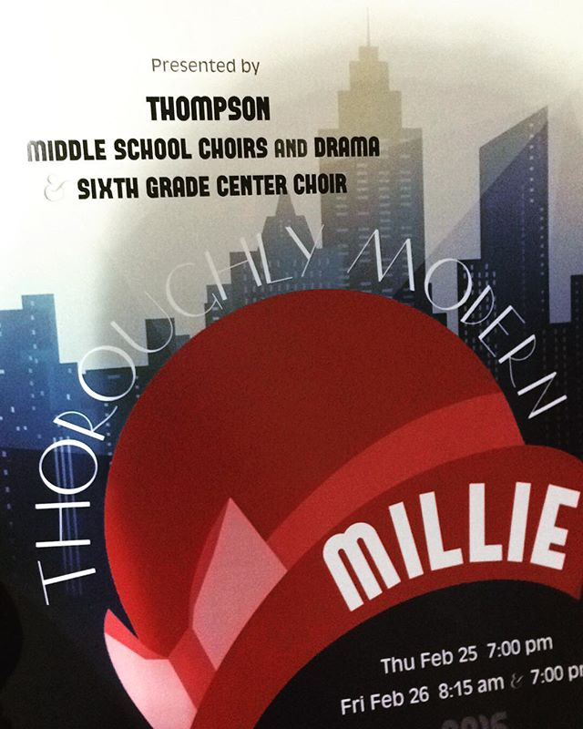 At Thompson Middle School supporting our student's production of Throughly Modern Millie. @gabi_not_gabby @_melanie.alyssa_ @awk0.hipsterr @the._.quote._.queen @__emilydunn__