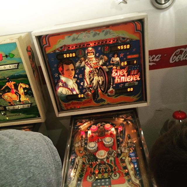 One of the many pinball machines we played tonight! #siluriabc