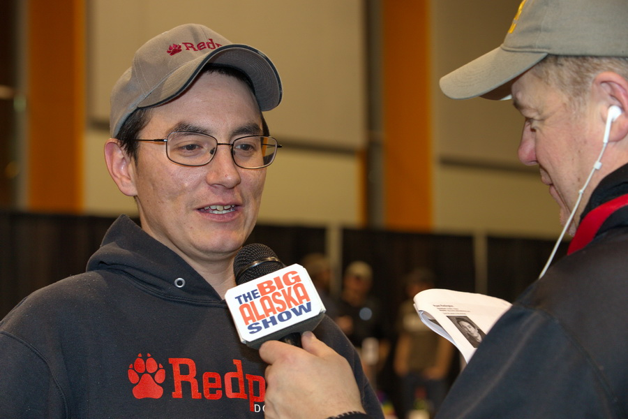 Mike Ford interviews a musher
