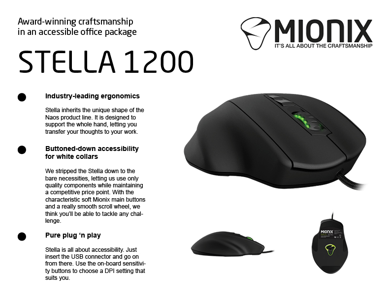 Mock-up för ny produkt, Mionix