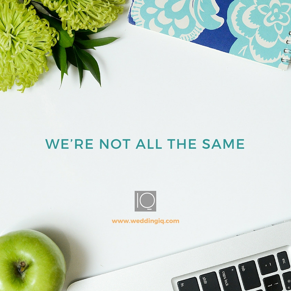 WeddingIQ Blog - We're Not All the Same