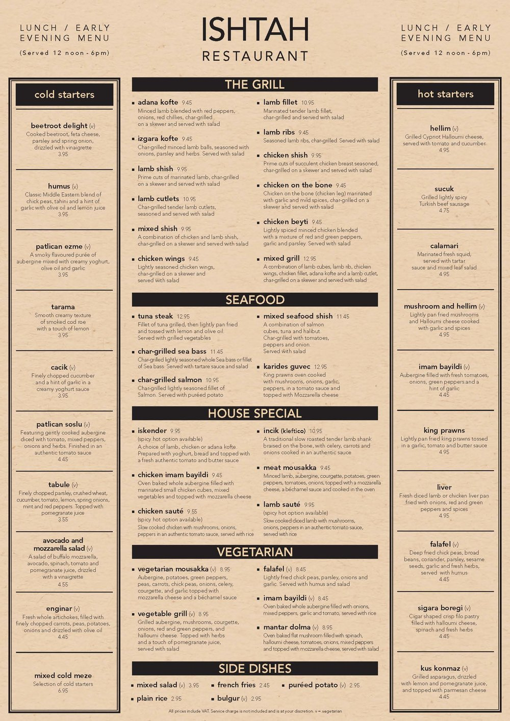 Download PDF version of the  Lunch Menu