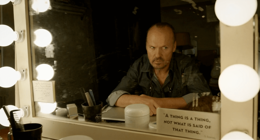 """""""A thing is a thing, not what is said of that thing."""" -Michael Keaton's Mirror"""