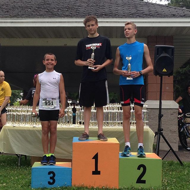 1st place in his first tri. Not a bad record. Ironman 2030 World Champion? I wouldn't bet against him