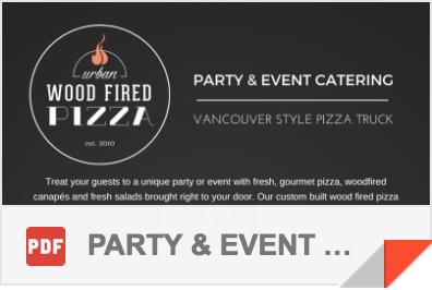 Parties & Events Brochure PDF