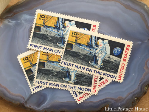Moon Landing Stamp 10 Cents Each